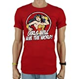 Logoshirt - DC Comics Wonder Woman slim fit T-shirt, Red, M