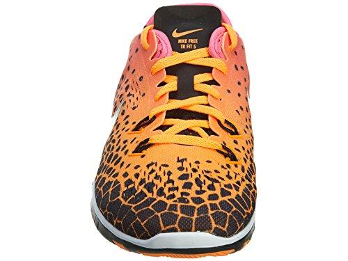 Nike Wmns Nke Free 5.0 Tr Fit 5 Prt - blk/mtllc slvr-pnk pw-brght ct Mehrfarbig
