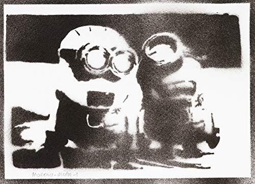 (Minions Ich – Einfach Unverbesserlich Poster Plakat Handmade Graffiti Street Art - Artwork)