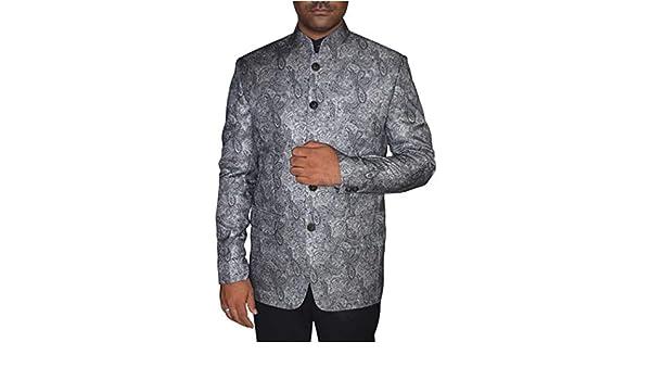 INMONARCH Mens Gray 2 Pc Jodhpuri Suit for Reception JO0358