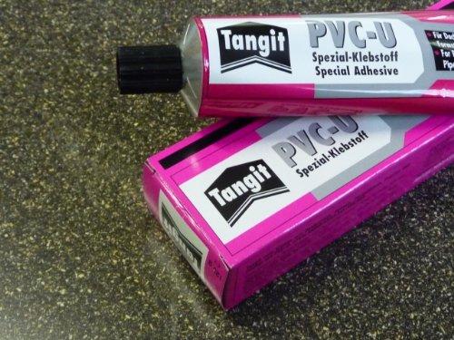 Tangit PVC-U Spezial-Klebstoff, 125g Tube Kleber PVC Platte Zuschnitt