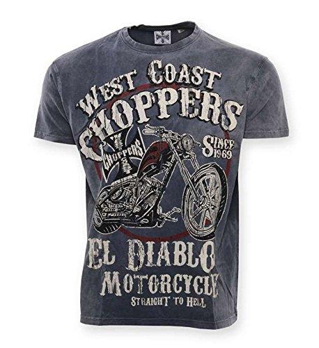 WEST COAST CHOPPERS - Maglietta sportiva -  uomo blu M
