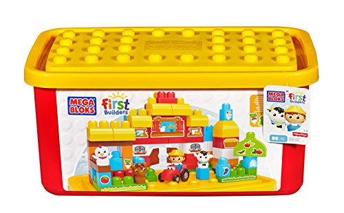 Mega-Bloks-Buildable-Toy-Chest-Farm-Tub-Colors-May-Vary