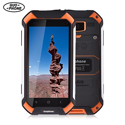 Pueri Guophone V19 4.5 Zoll schroffer Smartphone-androider 5.1 IP68 imprägniern Staub und Stoß beständig MTK6580 Viererkabel-Kern 2GB RAM 16GB ROM beweglicher Handy