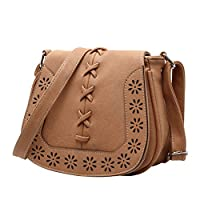 Vintage Shoulder Bag For Women Fresh Style Hollow out Crossbody Bag Woven Braided HandBag