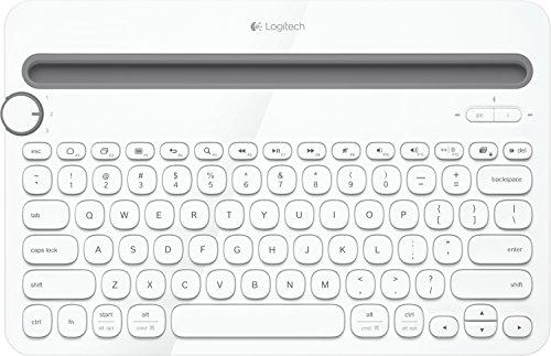 Logitech K480 kabellose Bluetooth-Tastatur für Computer, Tablet und Smartphone (QWERTZ) weiss