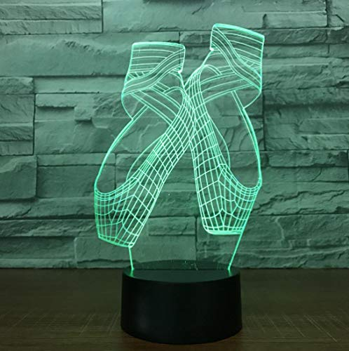 ZJFHL 3D Night Light Vision Stereo Led 3D Illusion Table Lamp Schuhe7 Color Changing Lamp Boy Child Gifts