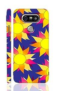 AMAN Flower Vintage Purple 3D Back Cover for LG G5