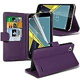 Vodafone Smart Ultra 6 Purple Farbe PU Lederetui Buch-Stil
