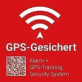 5x GPS-Gesichert / Alarmgesichert Warn-Aufkleber Sticker mit UV-Schutz, GPS-Nachverfolgung, 5x5cm Aussenklebend für elektronische Geräte sowie Motorrad, Baumaschinen, Boote