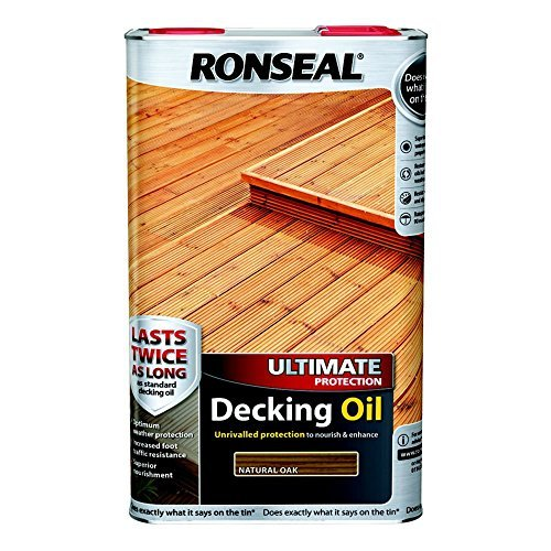 Ronseal RSLUDONO5L 5L Ultimate Protection Decking Oil Natural Oak by Ronseal