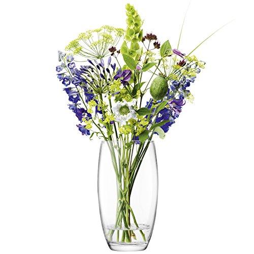 LSA International flores ramo de barril jarrón H29cm claro, 16,4x