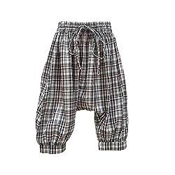 Aummade Boys Harem Pants, green checkered, 2-3 years (Aummade016_Green_2-3 years)