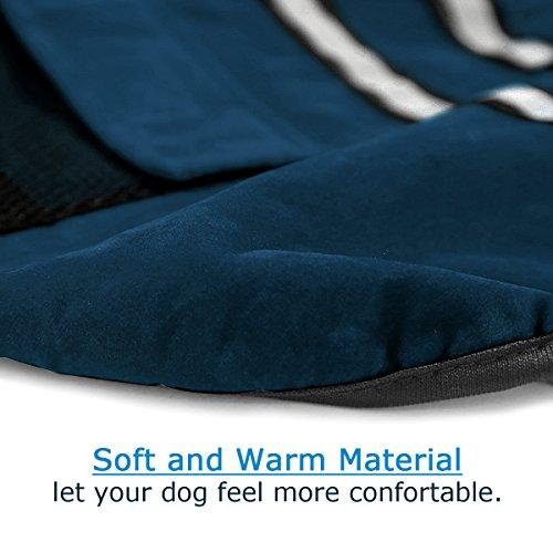 Poppypet Hundemantel, Winterjacke Hundebekleidung Herbst Weste Hundejacke Wintermantel Der modische Mantel ist perfekt fuer kalte Winter (Achten Sie bitte auf die Groesse) Blau L - 5