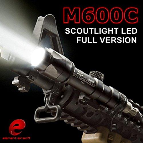 Elemento Airsoft SF M600c arma tattica LED Light Scout torcia EX 072(Nero) ,luci tattici,torcia tattica,luci di armi,Torcia elettrica di caccia,torcia elettrica