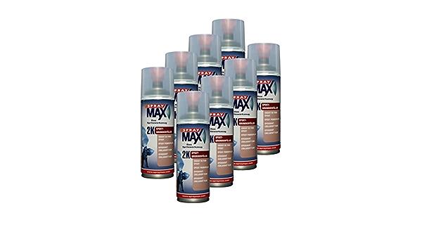 Kwasny 8x 680 034 Spraymax 2k Epoxy Grundierfüller Schwarz 400ml Auto