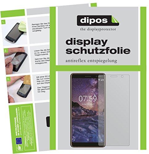dipos I 2X Schutzfolie matt passend für Nokia 7 Plus Folie Bildschirmschutzfolie