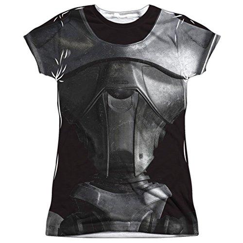 Kostüm T-shirt (slim) T-shirt für Damen Groß Weiß (Galactica Kostüme)
