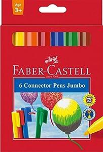 Faber-Castell Jumbo Connector Rotulador, 6 Pieza(s)