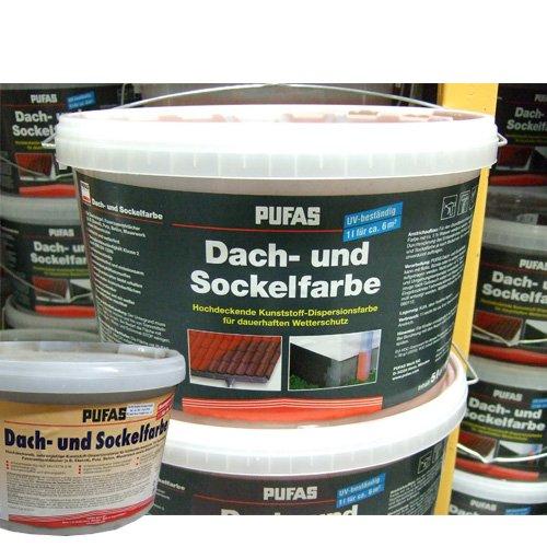 Pufas Dachfarbe und Sockelfarbe Antrazit 963 - 5 Liter
