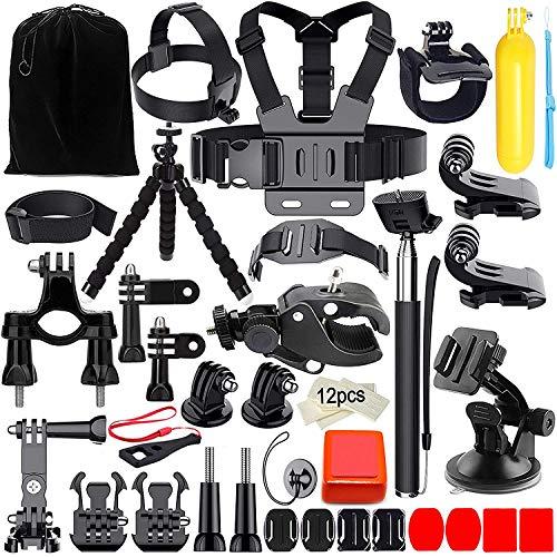 Accessoire pour action camera, Appolab Kit d'accessoires pour Hero 6 5 4 3+ 3 2 1 Hero Session 5 Noir AKASO EK7000 Apeman SJ4000 5000 6000 DBPOWER AKASO VicTsing WiMiUS Rollei QUMOX Lightdow Campark