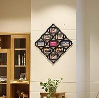 Matériau: PVC   Style: moderne   Taille d'image: neuf-box, 57 * 57cm, quatre boîtes, 39 * 39cm   Dimension de la photo: 10 * 15cm   Couleur: blanc, noir