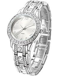 6cef5e4ac97d Reloj de mujer con brazalete de acero inoxidable chapado en cristal