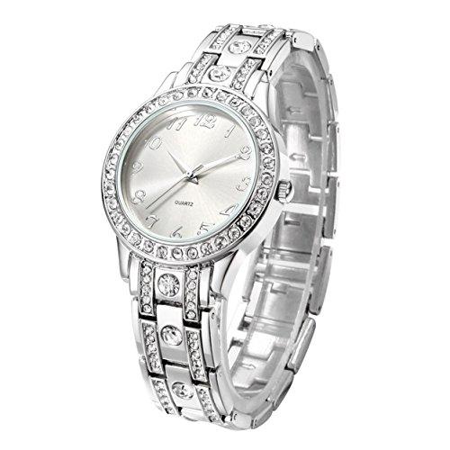 Nuovo orologio da polso donna Con Diamante Argento Bracciale