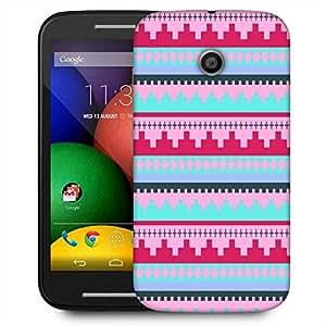 Snoogg Digit Aztec Pink Designer Protective Phone Back Case Cover For Motorola E / Moto E