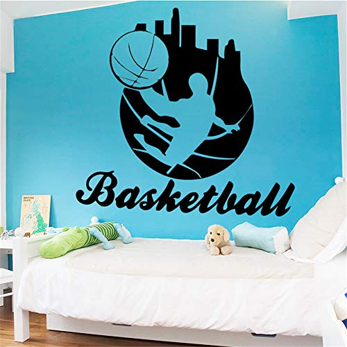 Spielen Basketball Wandaufkleber selbstklebende Tapete Dekoration Zubehör für Wohnzimmer Hintergrund Wandkunst Aufkleber 43 * 38 cm