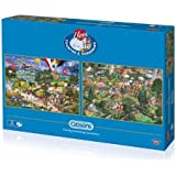 Gibsons I Love The Country and I Love Gardening Jigsaw Puzzle (2 x 500 pieces) by Gibsons