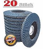 20 Stück Fächerscheiben 125 x 22,23 mm Korn 40 für INOX und Metall, Fächerscheibe Schleifmopteller
