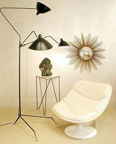 Poliert Chrom-drei-leuchte (Modern Personality Creative 3 Light Stehlampe Wohnzimmer Schlafzimmer Office Studio Villa Hotel Gallery Leselampe)