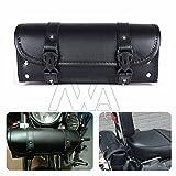Schwarz PU Leder Werkzeug Staubbeutel Motorrad Satteltasche Seite Werkzeug Schwanz Tasche Gepäck Universal