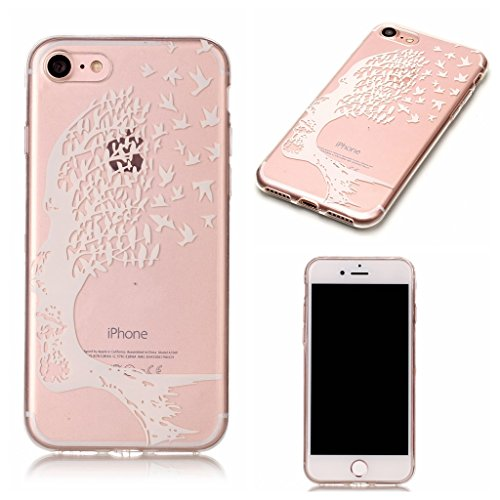 "Coque iPhone 7 , IJIA Ultra-mince Transparent Poney Mignon Crème Glacée TPU Doux Silicone Bumper Case Cover Shell Skin Housse Etui pour Apple iPhone 7 4.7"" XS48"