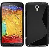 PhoneNatic Case für Samsung Galaxy Note 3 Neo Hülle Silikon schwarz S-Style Cover Galaxy Note 3 Neo Tasche Case