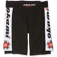 OKAMI Fightgear Pantalón Corto para Niños Sakura Short, Todo el año, Infantil, Color Negro/Blanco, tamaño XS