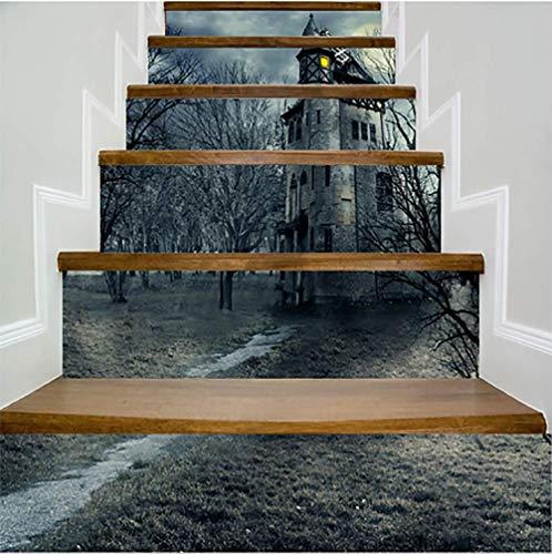 DFGTHRTHRT 3D Simulation Treppenaufkleber entfernbare Wasserdichte Wandaufkleber Schlafzimmer Wohnzimmer DIY Tapete Wandabziehbilder (Color : WLT014, Size : OneSize)
