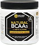 Natural Stacks Natural Bcaas With Beta-Alanine: 2:1:1 Pharmaceutical Grade Branch Chain Amino Acids For Increased Muscle Development And Endurance, Made With 100% Botanical Ingredients. 120 Capsules