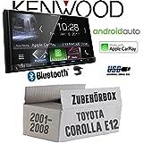 Toyota Corolla E12/120 - Autoradio Radio Kenwood DMX7017BTS - 2-DIN 17,7cm | Bluetooth | AndroidAuto | Apple CarPlay | Zubehör - Einbauset