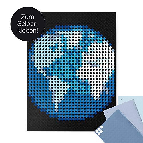 Earth-dots (dot on Erde Poster - 30 x 40 cm Bekannt Aus