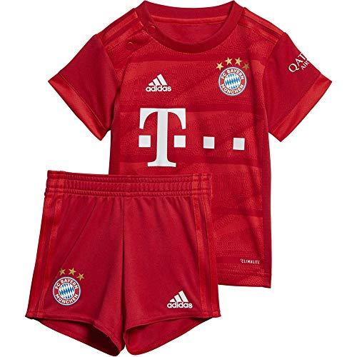 adidas Kinder FC Bayern München 19/20 Heim Babykit Fußballtrikot rot 86