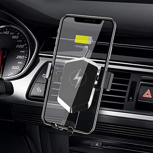 RUNNG Installazione del caricabatteria per Auto Wireless, Qi Fast Charging Vent Supporto per Telefono Auto 10W Automatico, Compatibile con iOS Android e Altri dispositivi mobili Q
