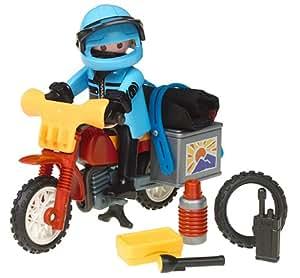 Playmobil - 3222 - Les Aventuriers - Pilote / Moto raid