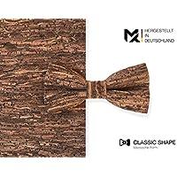 Cravatta a farfalla MAY-TIE | Legno Marrone | 100% sughero | Stile | legata e regolabile senza limiti con gancio di fissaggio | made in Germany