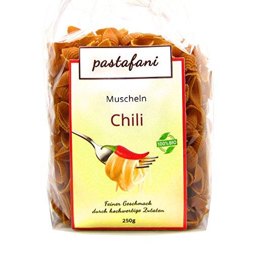 Muscheln 250g - Leckere scharfe Chili-Nudeln für Feinschmecker mit feurigem Geschmack. Chilli-Pasta mit ausschließlich natürlichen, qualitativ hochwertigen Zutaten ohne Aroma- oder Zusatzstoffe, Teigwaren ohne Ei, vegetarisch, vegan, Versandkostenfrei ab 15 Euro! (Spaß-halloween-kochen Ideen)