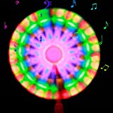 AAA226 LED Light Up Flashing Spinning Music Windmill Strip Shape Child Toy Gift - Random Color