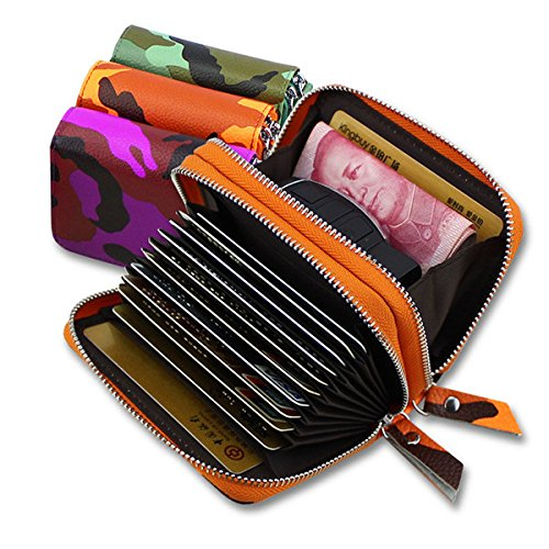 damen-women-zipper-rfid-camouflage-card-holder-genuine-leather-short-purse-coin-bags