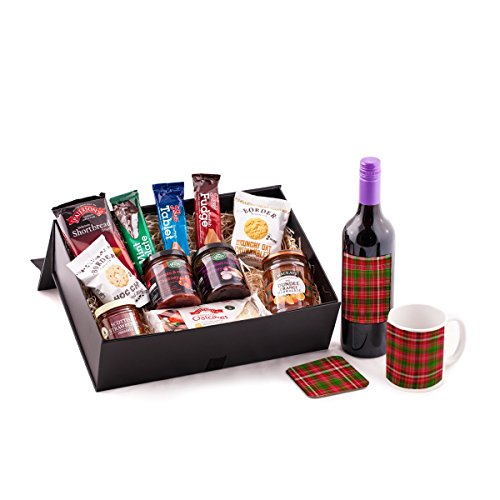 Merlot Scottish Food Hamper. Birthday, Anniversary, Engagement, Easter, Mother's day, Father's day, Valentine's day, Wedding or Christmas gift idea