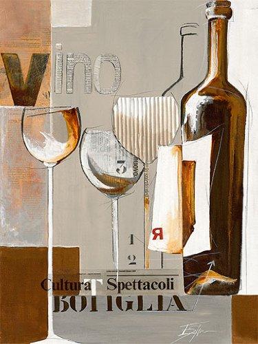 Eurographics ESP1184, E. Espin, Glamorous Botiglia, Poster con stampa artistica di alta qualità, 18 x 24 cm